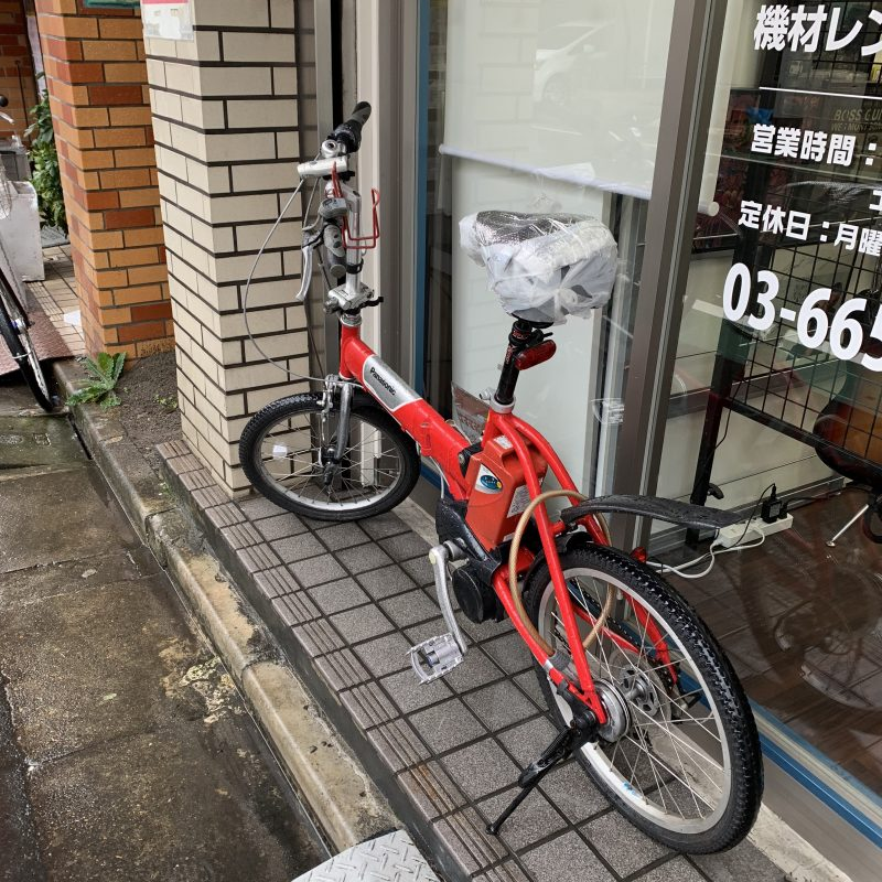 赤い自転車!!